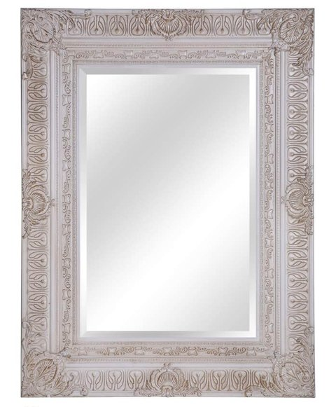 Espejo con marco labrado dorado 72x82 cm for Espejo con marco biselado