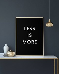 Cuadro Less Is More - Negro