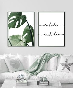 SET x 2 - Monstera Leaf + Inhale Exhale
