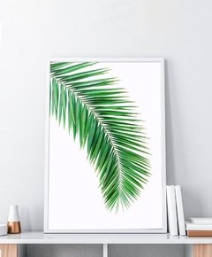 Cuadro Palm Leaf 35x50 Marco Chato Natural