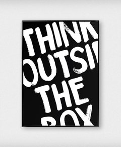 Cuadro Think Outside The Box Negro
