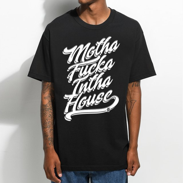 T-shirt Mothafucka Into House Preta