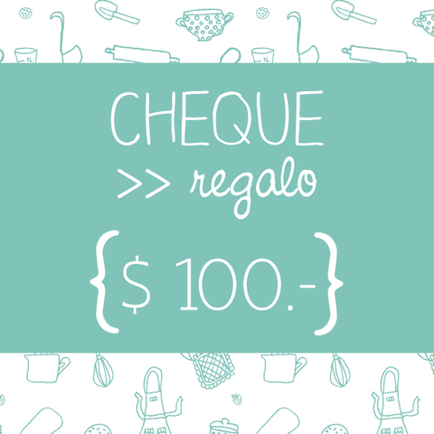 Cheque regalo $100