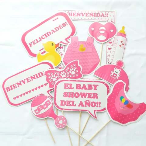 Props photobooth baby shower nena - comprar online