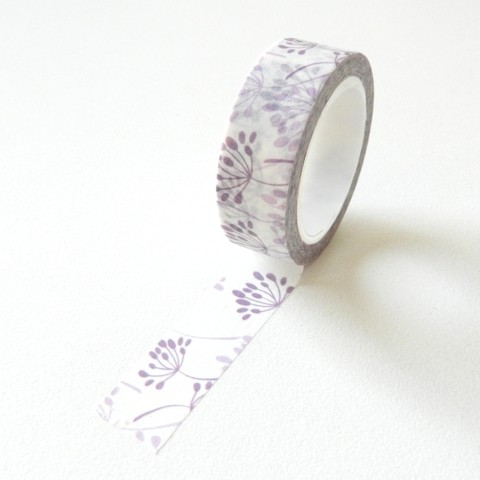 Washi tape flores lila