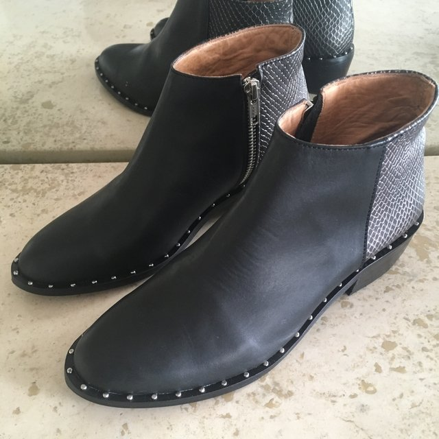Bota de cuero Sugar black en internet