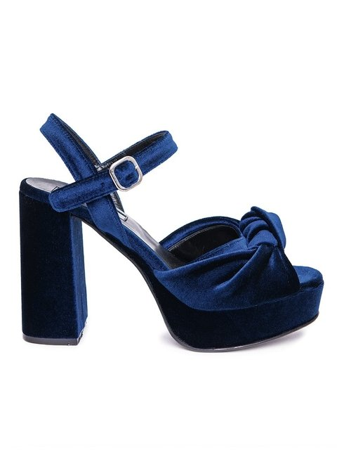 ZAPATO VELVET BLUE on internet