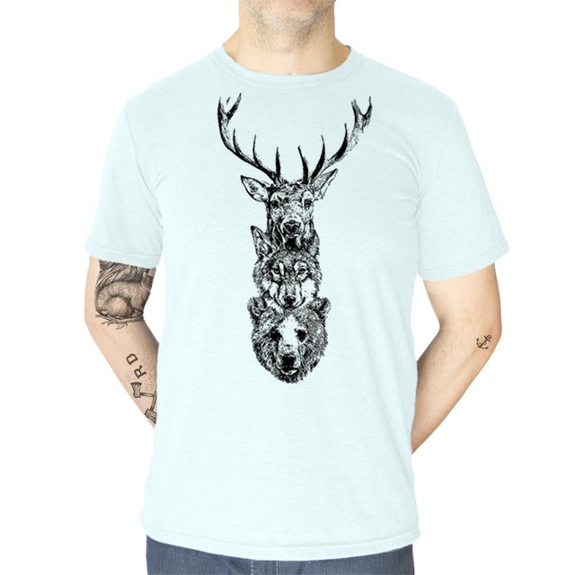REMERA ANIMALES AGUA - comprar online