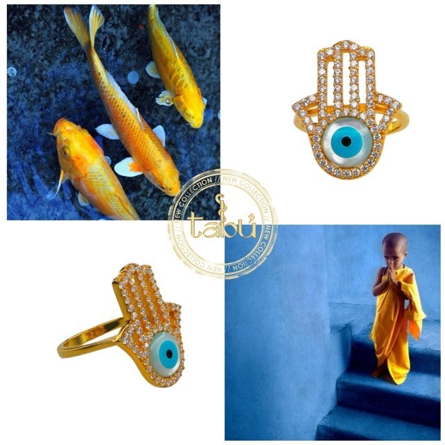 ANILLO EVIL EYE HAMSA HAND en internet