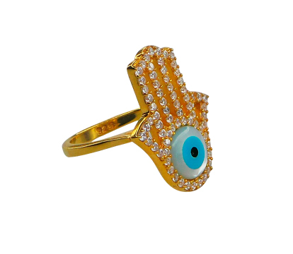 ANILLO EVIL EYE HAMSA HAND - buy online