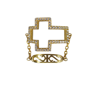 ANILLO CROSS CHAIN GOLD