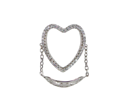 ANILLO HEART CHAIN SILVER