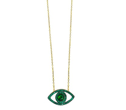 CADENA EVIL EYE ALYSA GREEN - buy online