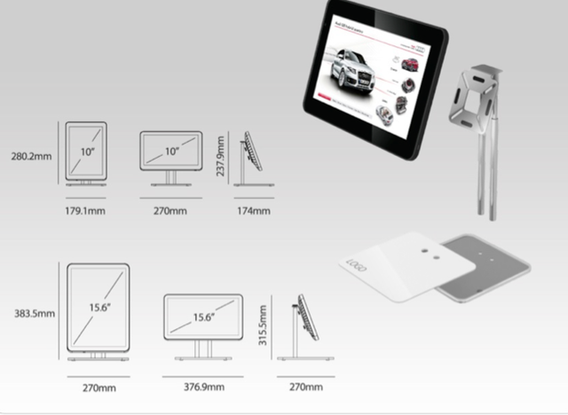 Pedestais de Mesa para Retail Tablets - BroadNeeds