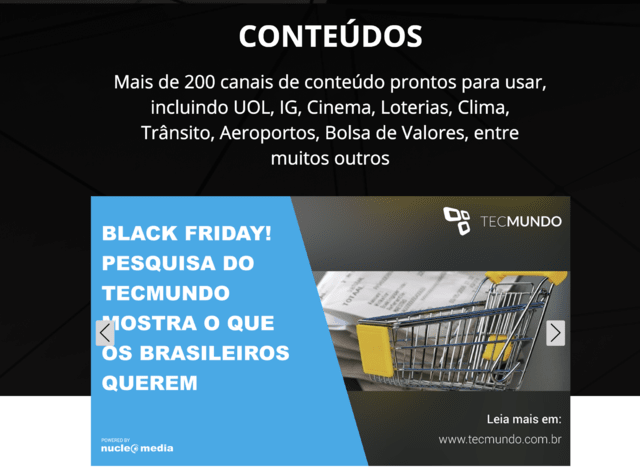 Pacote com 12 meses Nucleo Media Digital Signage +  T95N Android Player + Vouchers adMooH.com - BroadNeeds