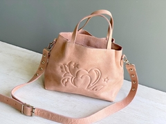 Mini baúl Lena nude - Boris Handbags