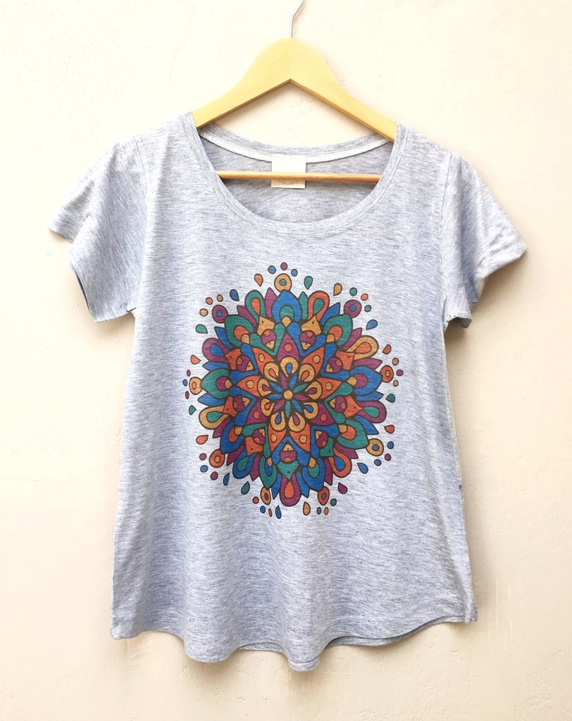 Remera Eugenia Mandala Multicolor