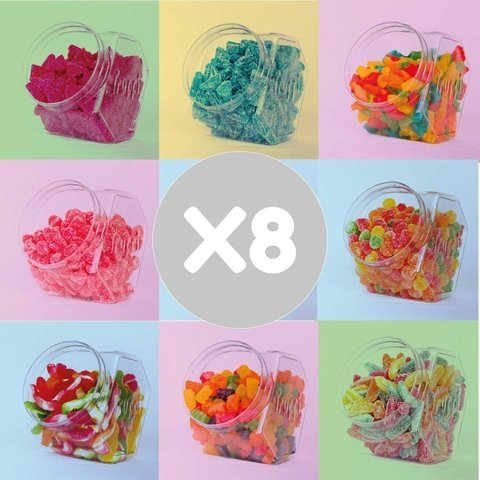 PACK X 8 de las gomitas que quieras! + Party Box!
