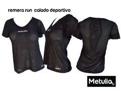 "Remera "" livianasport negro "" Run Gym Fitness"