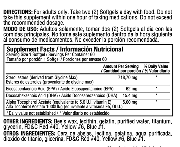 VASCUSUR 60 softgels, salud cardiovascular arritmias