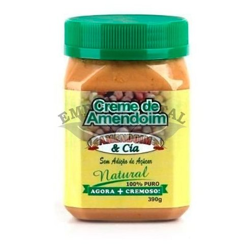 Creme de Amendoim Natural - 390g - Amendoim & Cia