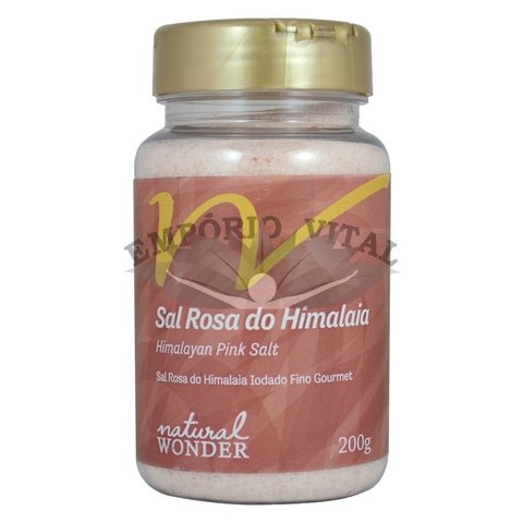 Sal Rosa do Himalaia Fino 200g - Natural Wonder