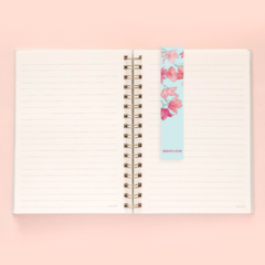 Kit Cuaderno A5 Rayado Floreado Celeste Flores + Bullet Journal A6 en internet