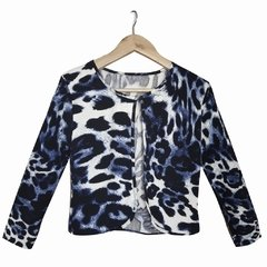 Chaqueta Azul Animal Print - Talle XL