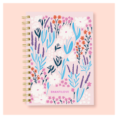 Kit Cuaderno A5 Rayado Floreado Ramitas + Bullet Journal A6 en internet