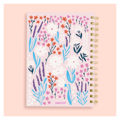 Kit Cuaderno A5 Rayado Floreado Ramitas + Bullet Journal A6 - nofret