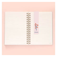 Kit Cuaderno A5 Rayado Floreado Ramitas + Bullet Journal A6 - tienda online