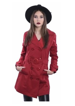 Piloto Impermeable Trench Rojo