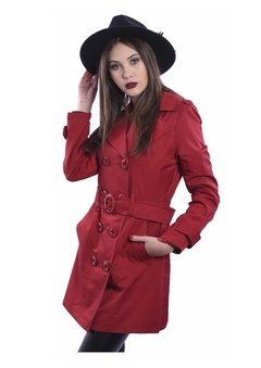 Piloto Impermeable Trench Rojo en internet