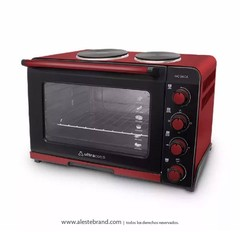 Horno Eléctrico Ultracomb Doble Anafe 54l Uc-54ca