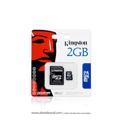 Tarjeta microSD con adaptador KINGSTON 2GB