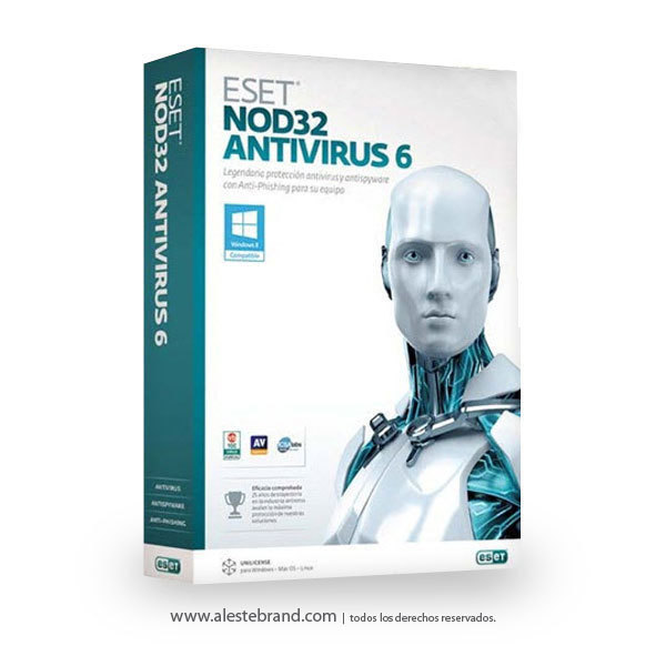 ESET NOD32 Antivirus 6 Home Edition - 1PC Licencia electronica digital - comprar online