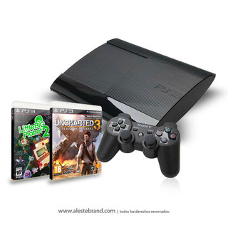 Sony Playstation3 Ultra Slim 250gb Ps3 + joystick + 2 Juegos