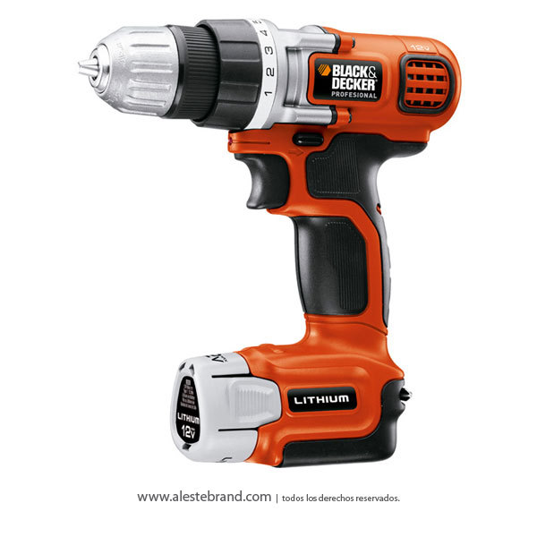 Taladro atornillador inalámbrico 12 V litio-ion Black & Decker LD112