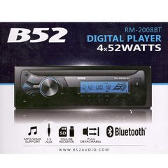 Autoestereo B52 digital Bluetooth USB RM-2008BT - comprar online