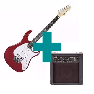Combo Peavey Guitarra Raptor Plus Exp Red  + Amplificador Audition