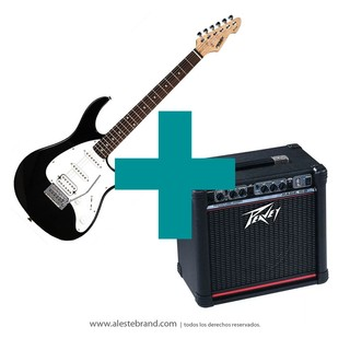 Combo Peavey Guitarra Raptor plus Exp Black + Amplificador