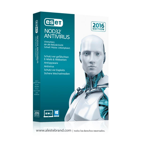 Eset NOD 32 Antivirus 2016 3 PC Licencia Digital