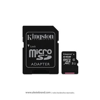 Micro SD Kingston 64GB Clase 10 XC1