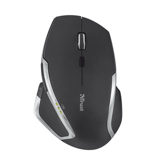 Mouse EVO Advanced Trust Wireless Laser Black ergonómico