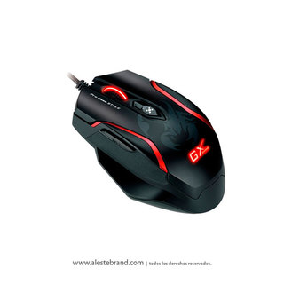Mouse GX Genius Maurus X FPS Gaming Black/Red (6 botones)