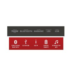 Equipo multireproductor portátil Crown Mustang Bluetooth CMA402BT en internet