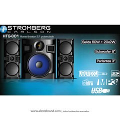 Home Theater 2.1 Stromberg Bluetooth 100W HTG-801 - comprar online