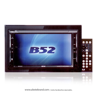 Autoestereo B52 Reproductor Multimedia Bluetooth USB HD B52 DDC-9017