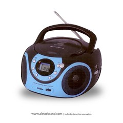 Reproductor Stromberg Carlson Boombox CD / AM FM USB BB-29 AZUL - comprar online