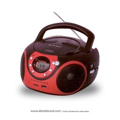 Reproductor Stromberg Carlson Boombox CD / AM FM USB BB-29 ROJO